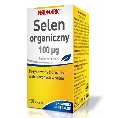 Selen organiczny 100 µg. 100 tabletek. Walmark