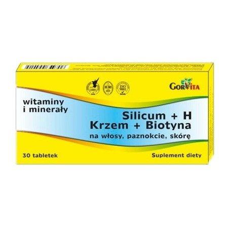 Silicum + H, Krzem + Biotyna, 30 tabletek.
