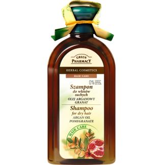 Szampon - Do włosów Suchych z Olejem Arganowym i Granatem, 350 ml. Green Pharmacy.