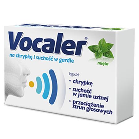 Vocaler - Mięta, 12 pastylek do ssania.
