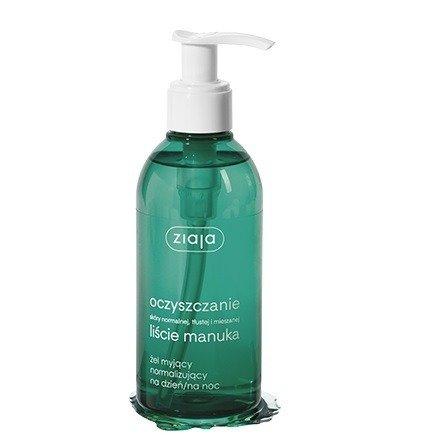ZIAJA - Oczyszczanie Liście Manuka - ŻEL myjący, normalizujący, 200 ml.