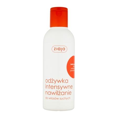 Ziaja - Intensywna pielęgnacja włosów - ODŻYWKA bez spłukiwania z kiełkami pszenicy, intensywnie nawilża i regeneruje włosy suche i normalne, 200 ml.