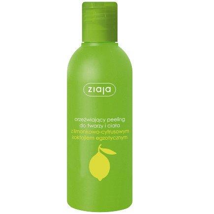 Ziaja - Limonkowa - PEELING orzeźwiający do twarzy i ciała, 200 ml.