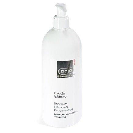 Ziaja MED - Kuracja lipidowa - Fizjoderm kremowa BAZA myjąca do skóry bardzo wrażliwej alergicznej i atopowej, 400 ml.