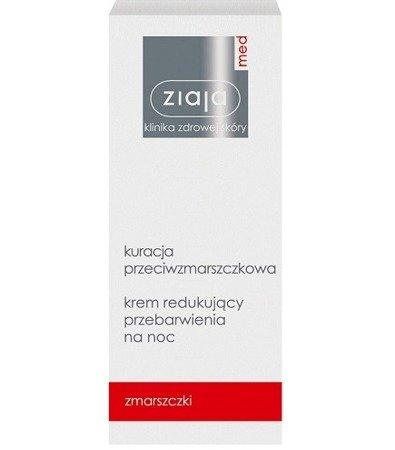 Ziaja MED - Kuracja przeciwzmarszczkowa - KREM redukujący przebarwienia na NOC, 50 ml.