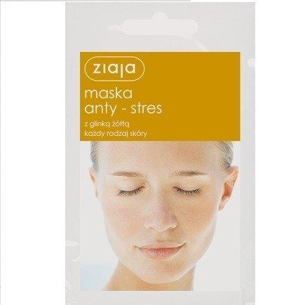 Ziaja - Maski z glinką - Maska Anty-Stres z glinką żółtą do każdego rodzaju cery, 7 ml.