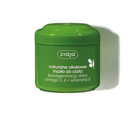 Ziaja - Oliwkowa - Naturalny MASŁO do ciała, zawiera omega-3,6 i witaminę E, polecany do każdego rodzaju skóry, 200 ml.