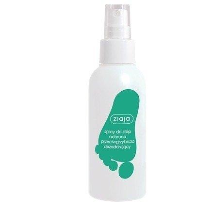 Ziaja - Pielęgnacja stóp - SPRAY do stóp przeciwgrzybiczy i dezodoryzujący, 100 ml.